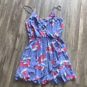 Express Floral Faux-Wrap Dress, size M
